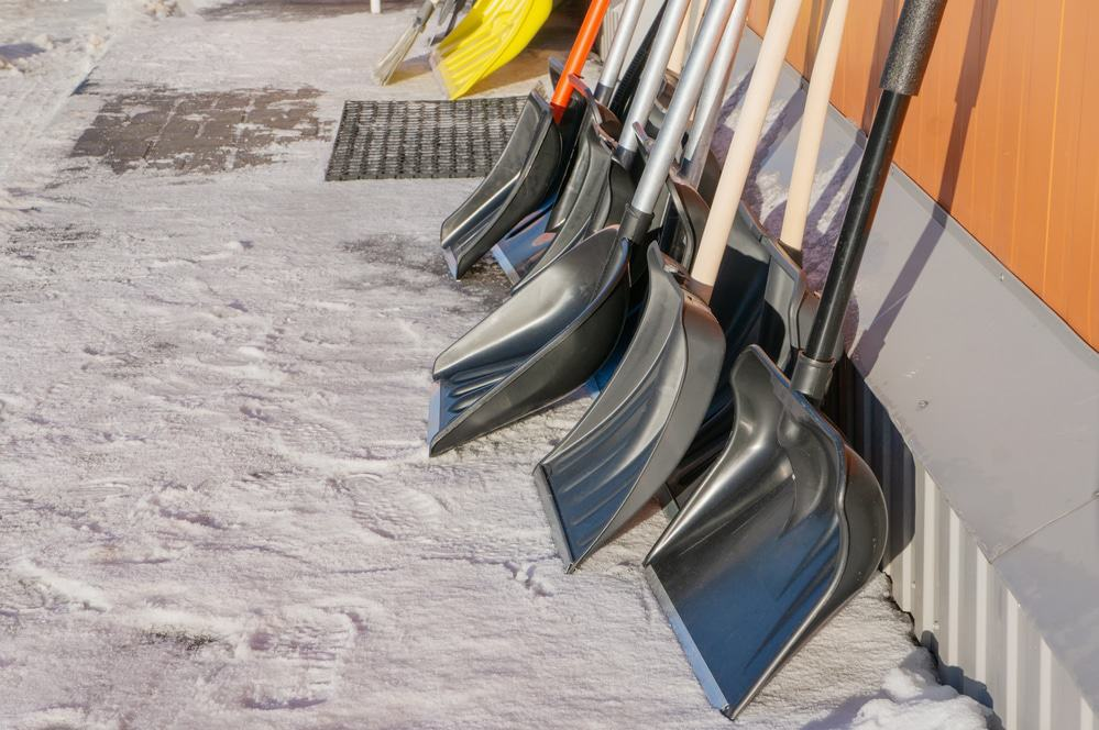 Multiple snow shovels